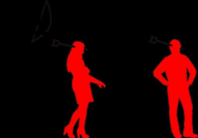 amor strieľa šípy